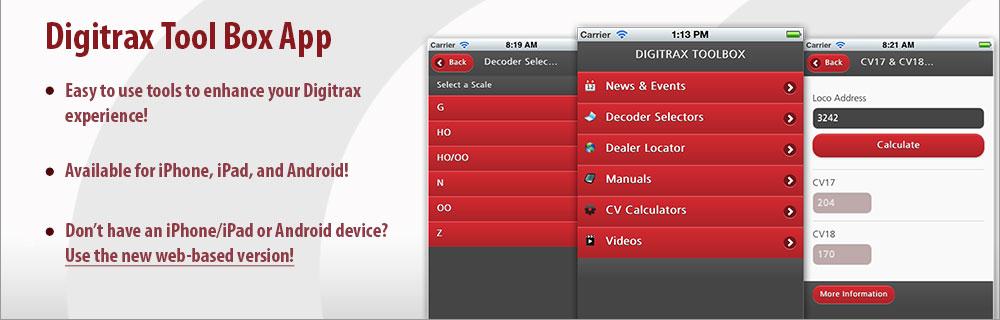 Digitrax Toolbox App
