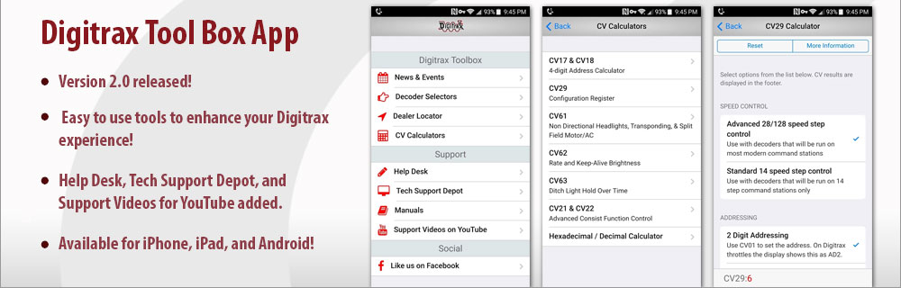 Digitrax Toolbox App