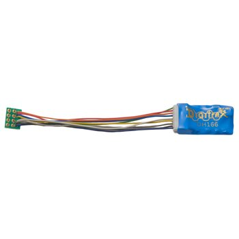 "1.5 Amp Premium HO Scale Decoder with Digitrax Easy Connect  9 Pin to DCC Medium Plug 3.0"" harness"