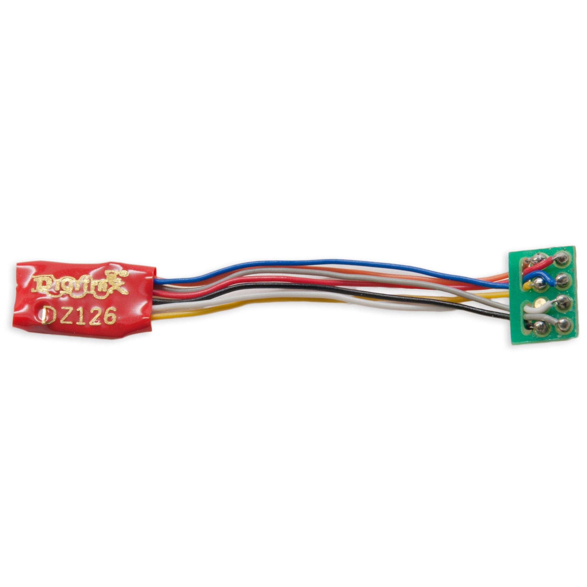 N DIGITRAX DZ126IN 1 Amp Z HO Scale Decoder with 6 Pin NEM 651 type plug N
