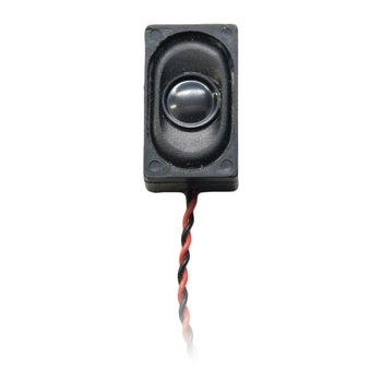 Rectangular 26.5mm x 15.5mm x 9mm 8 Ohm Compact Box Speaker with enclosure & wires