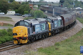 BR Class 37 English Electric Type 3 Diesel Locomotive