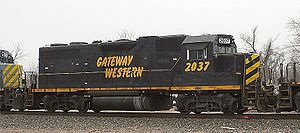 GP38 EMD 645E-16 Non Turbo 2000HP