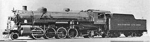 NKP 587 2-8-2 Mikado class H6a USRA Light Steam