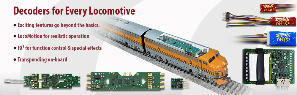 Decoders for every locomotive
