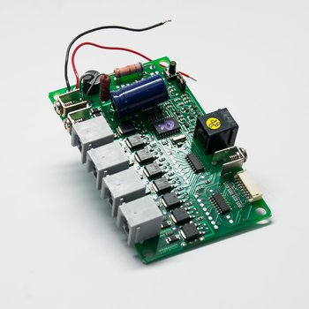 Quad Stationary Decoder with Programmable LocoNet Inputs & Outputs