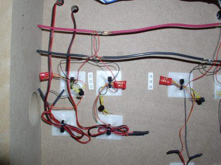kb205 case study texas southwestern part 6 of 11 wiring the in a close up view three ds51k1 s are first connected to the power bus and then to the turnout which they control the red and black wires of the ds51k1